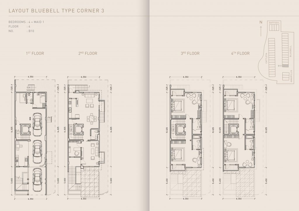 Pondok Indah Town House Lay Out Bluebell Type Corner 3