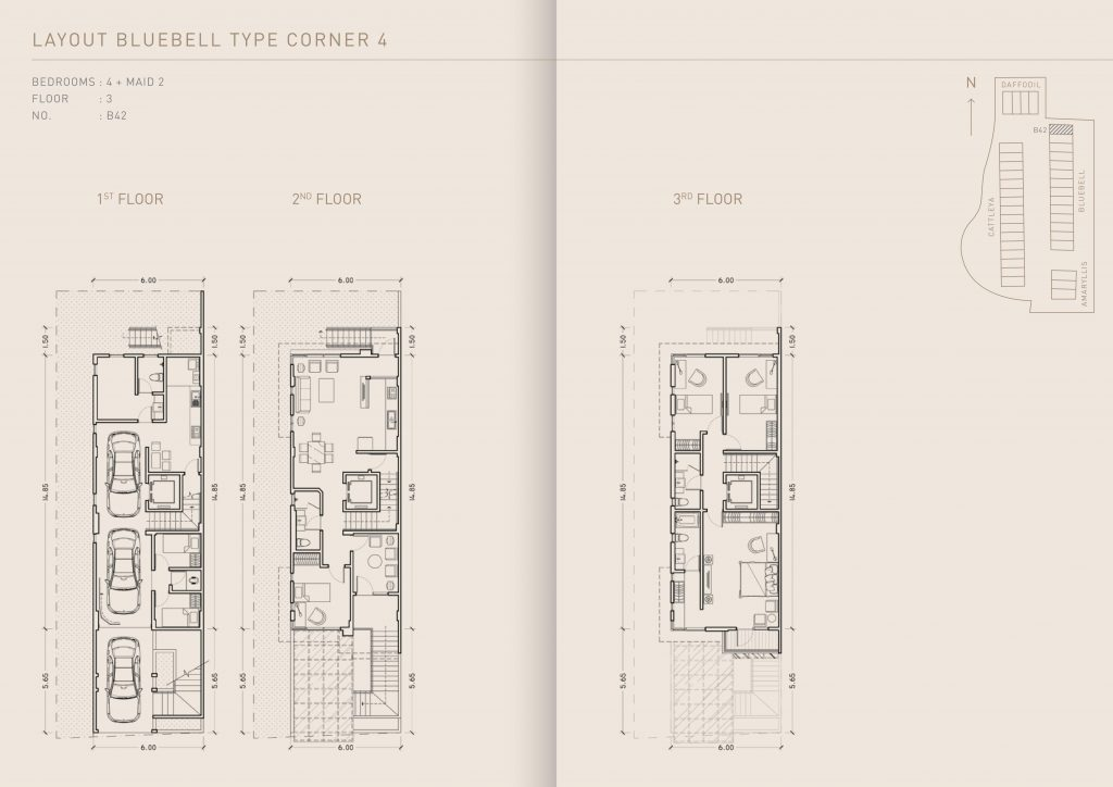 Pondok Indah Town House Lay out Bluebell Type Corner 4   therumahproperty.com