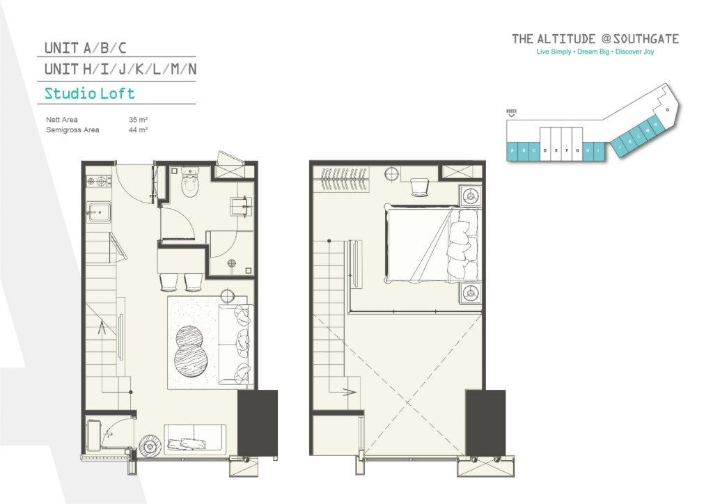 apartemen tipe loft