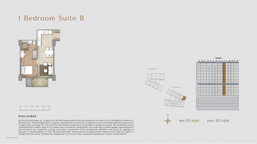 Apartemen Avania Residence unit tipe 1 Bedroom Suite B