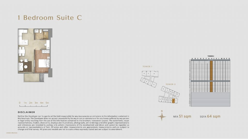 Apartemen Avania Residence unit tipe 1 Bedroom Suite C