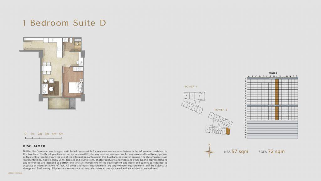 Apartemen Avania Residence unit tipe 1 Bedroom Suite D