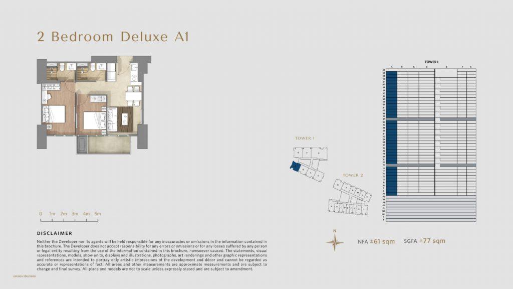 Apartemen Avania Residence unit tipe 2 Bedroom Deluxe A1