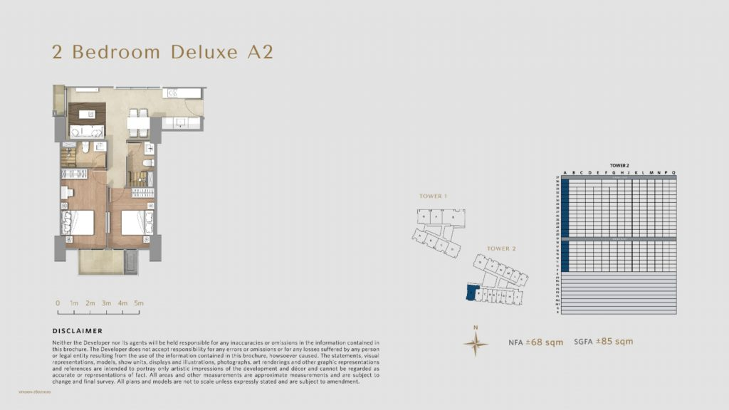 Apartemen Avania Residence unit tipe 2 Bedroom Deluxe A2