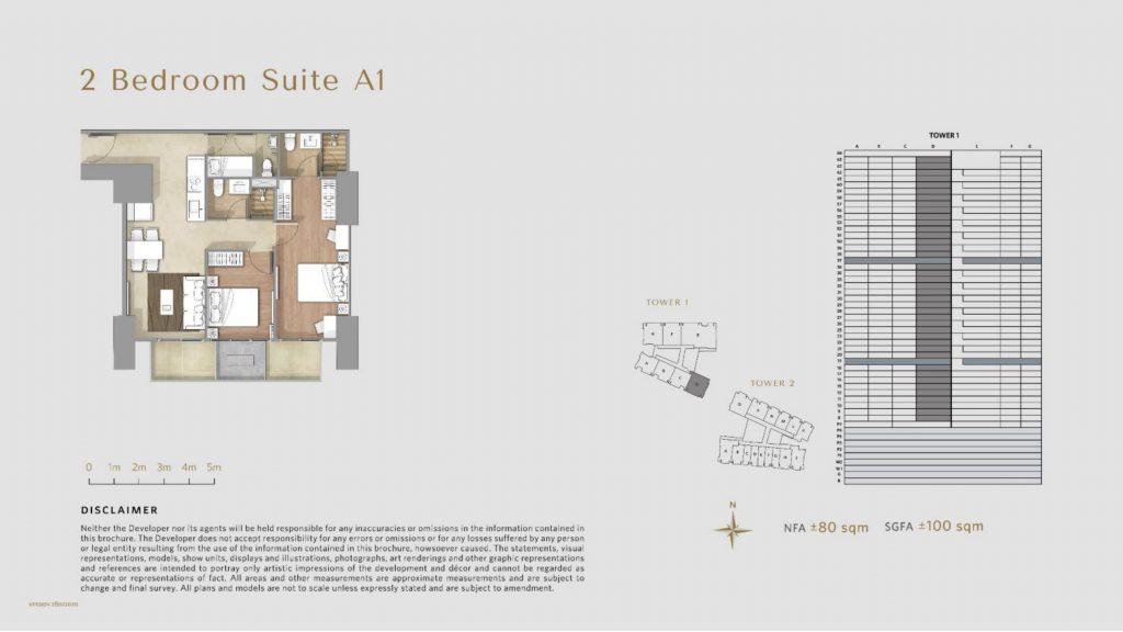 Apartemen Avania Residence unit tipe 2 Bedroom Suite A1