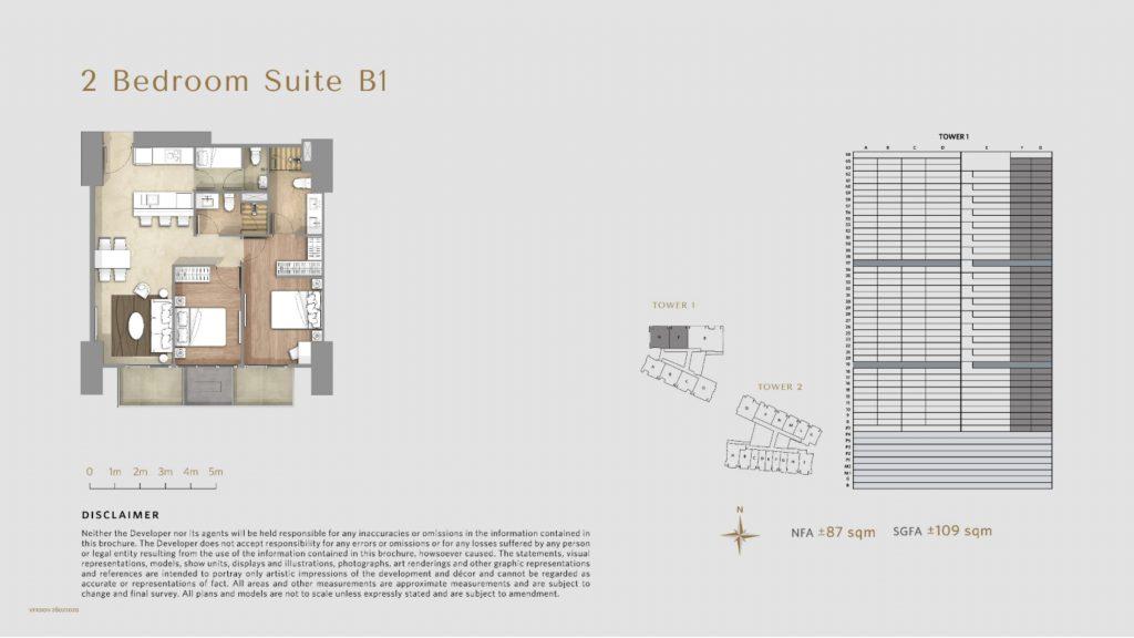 Apartemen Avania Residence unit tipe 2 Bedroom Suite B1