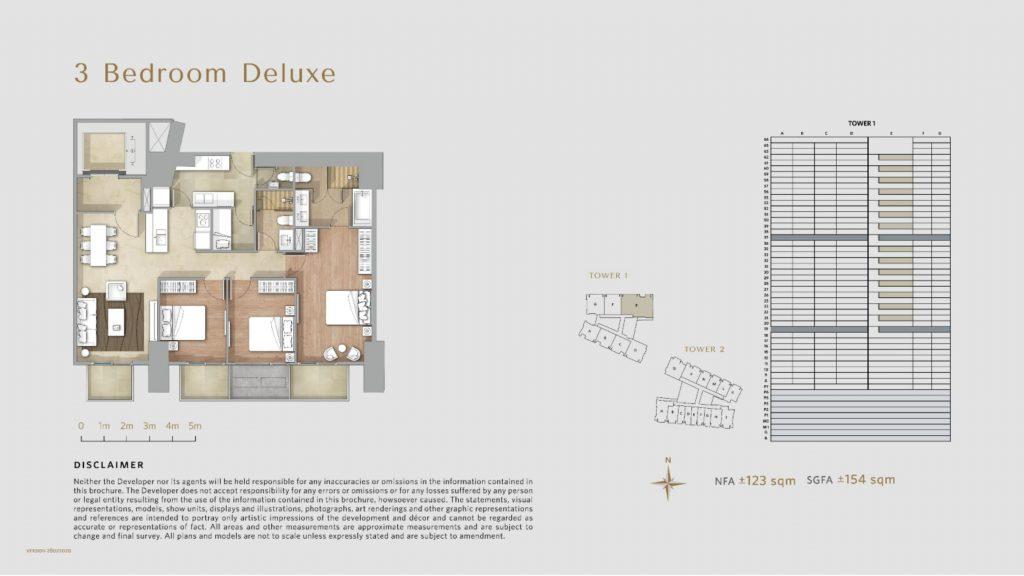 Apartemen Avania Residence unit tipe 3 Bedroom Deluxe