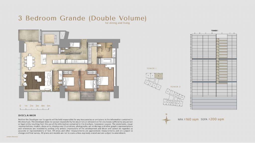 Apartemen Avania Residence unit tipe 3 Bedroom Grande (double volume)
