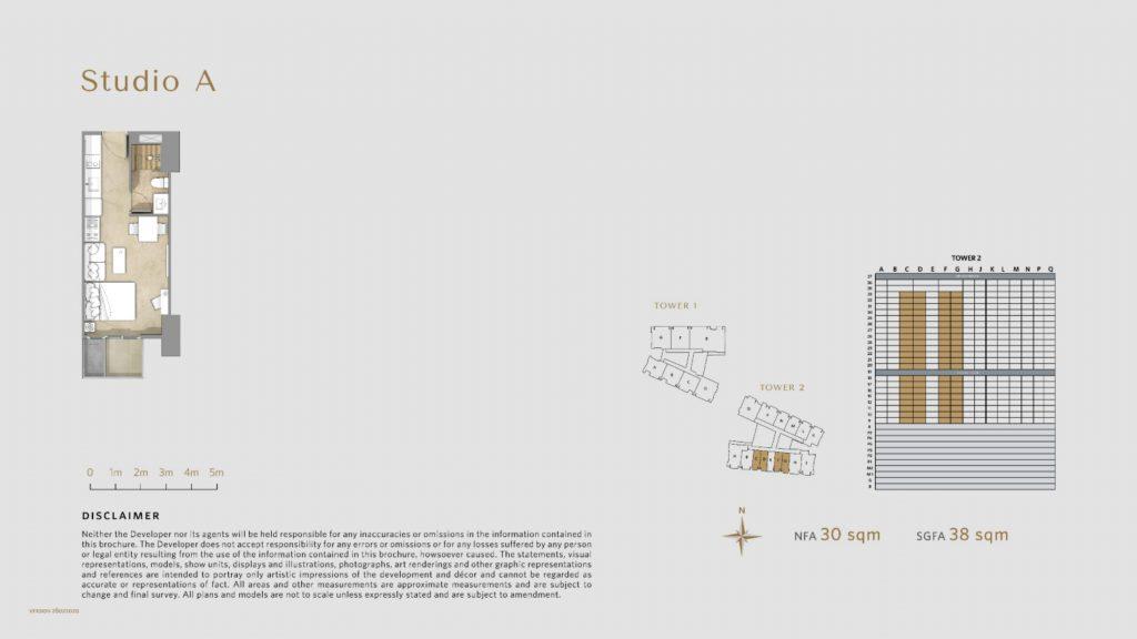 Apartemen Avania Residence unit tipe studio A
