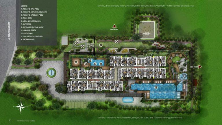 Permata Hijau Suites floor plan and facilities