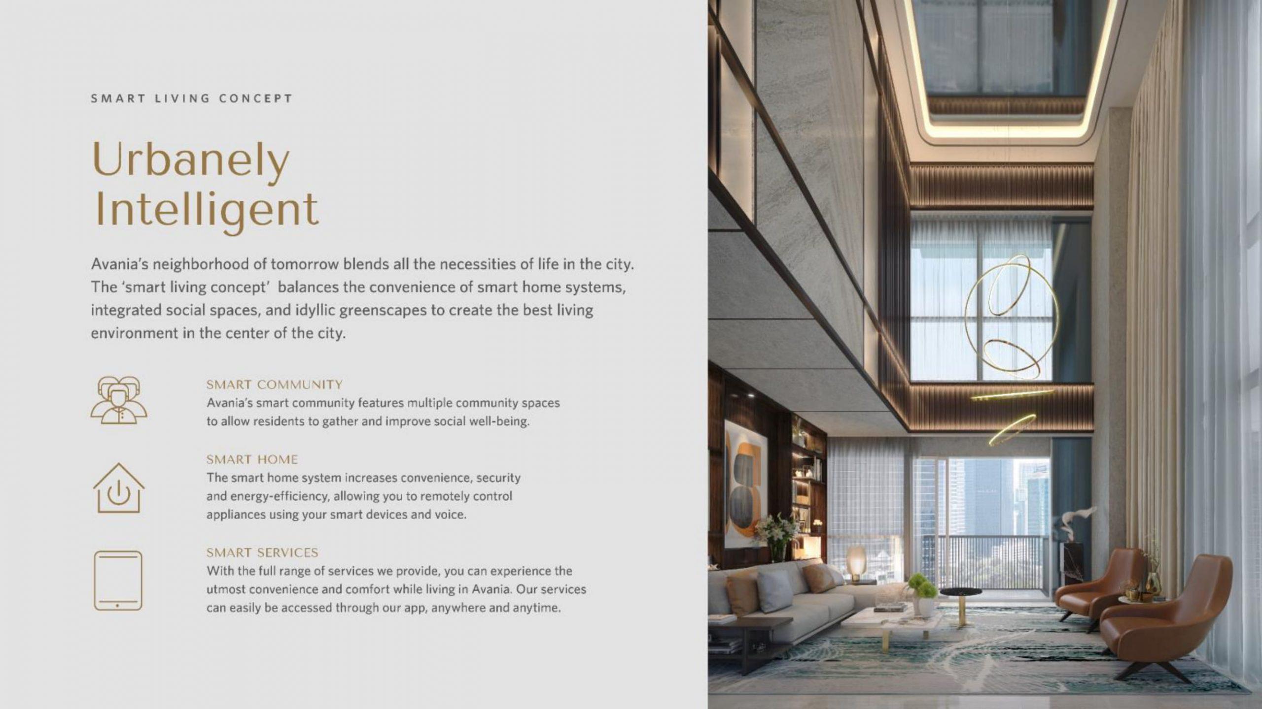 smart living konsep Apartemen Avania Residence Gatot Subroto