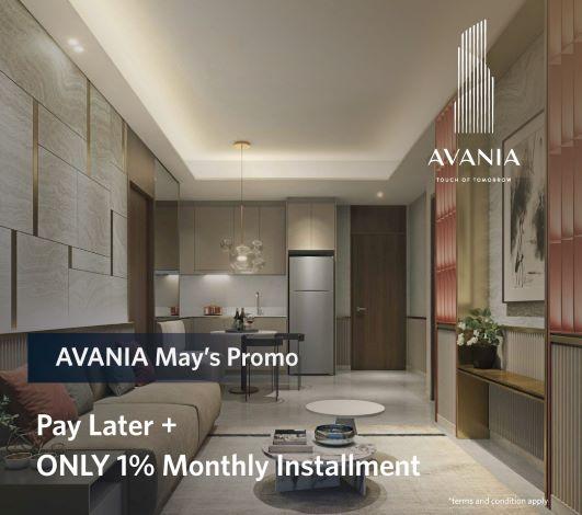 promo Avania Residence bulan mei 2020-cicilan DP 1% per bulan dan cuti bayar 3 bulan