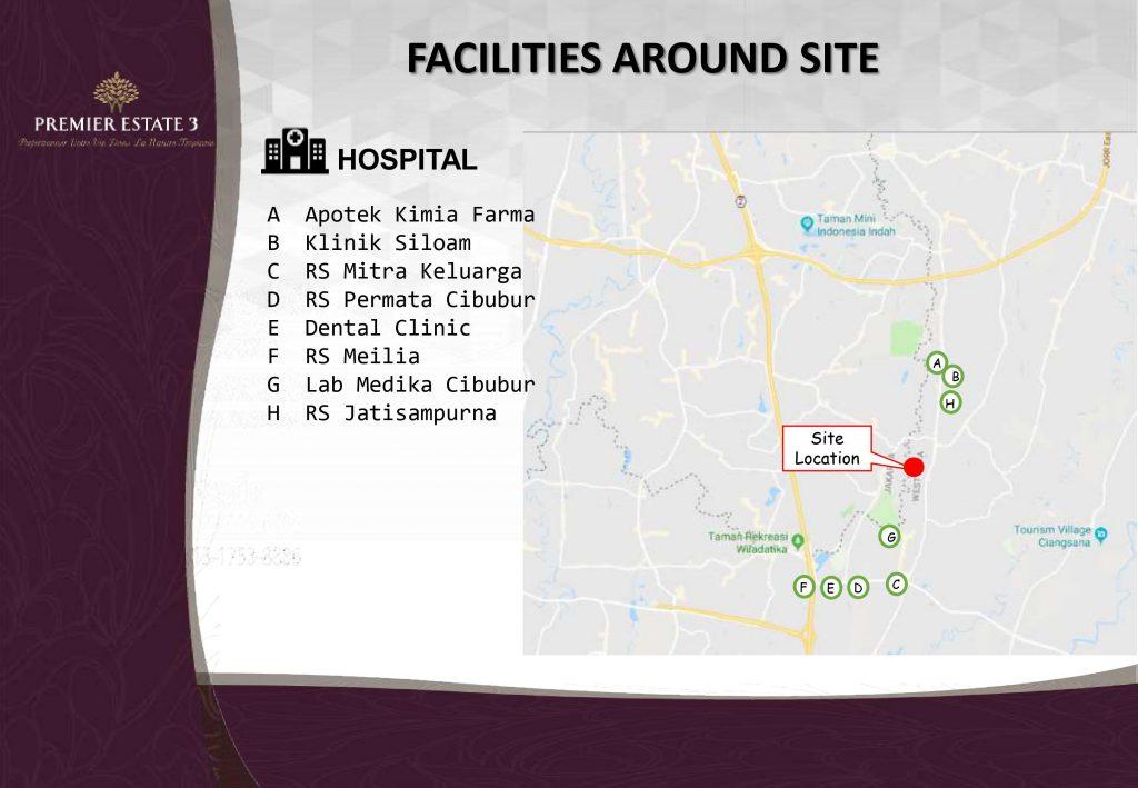 Fasilitas kesehatan di Premier Estate 3 Kranggan Cibubur