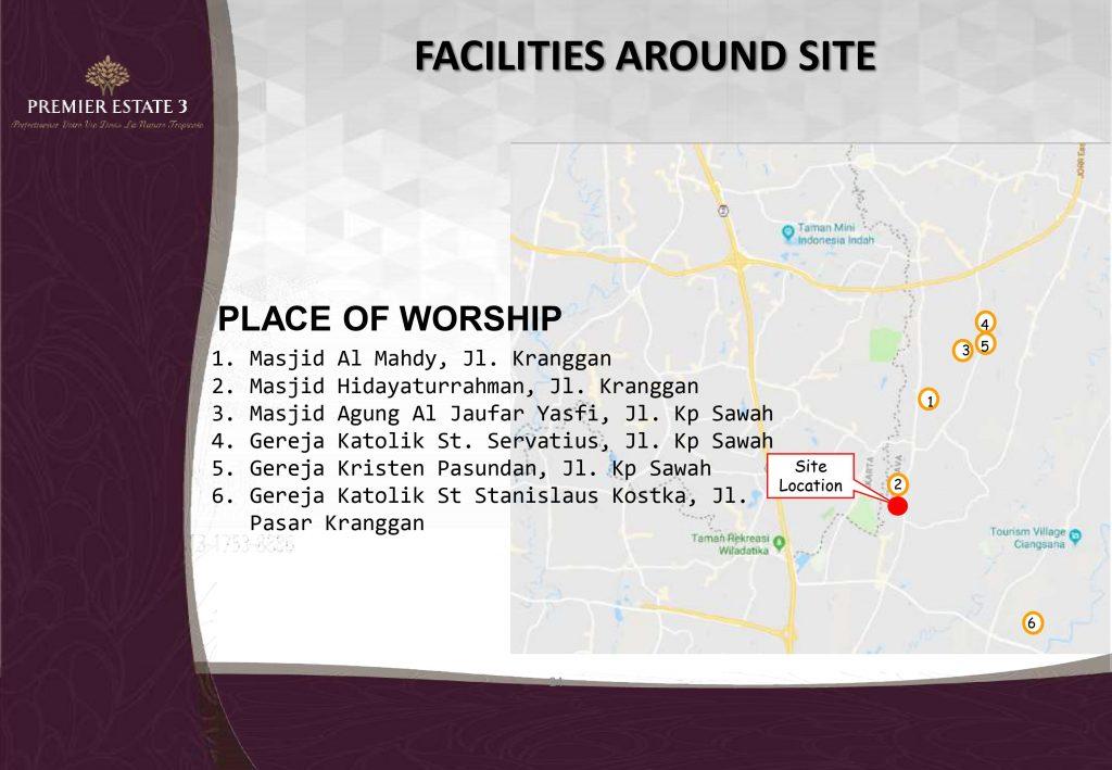 Fasilitas tempat ibadah Premier Estate 3 Kranggan Cibubur