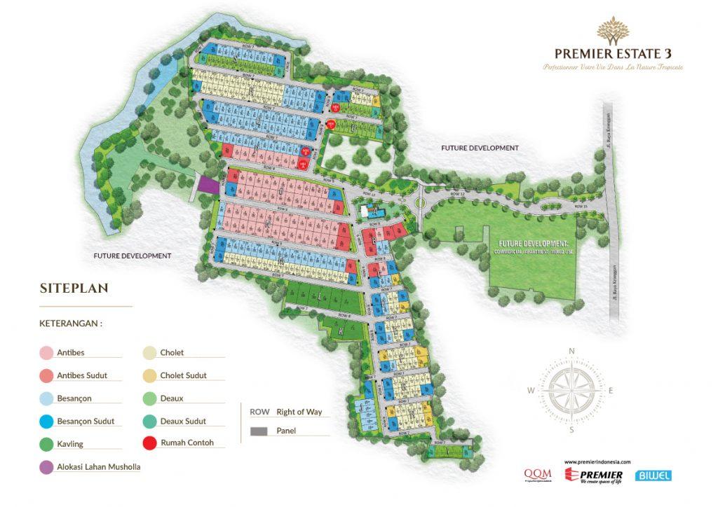Site Plan Premier Estate 3 Kranggan Cibubur