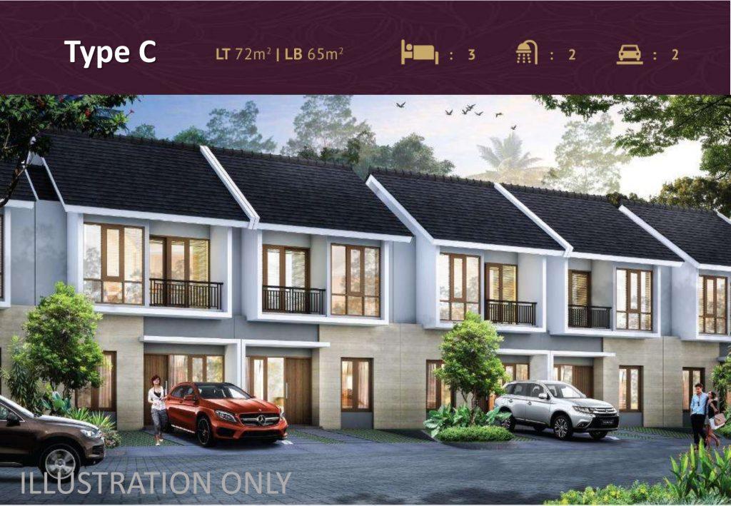 Tipe rumah Cholet di Premier Estate 3 Kranggan Cibubur
