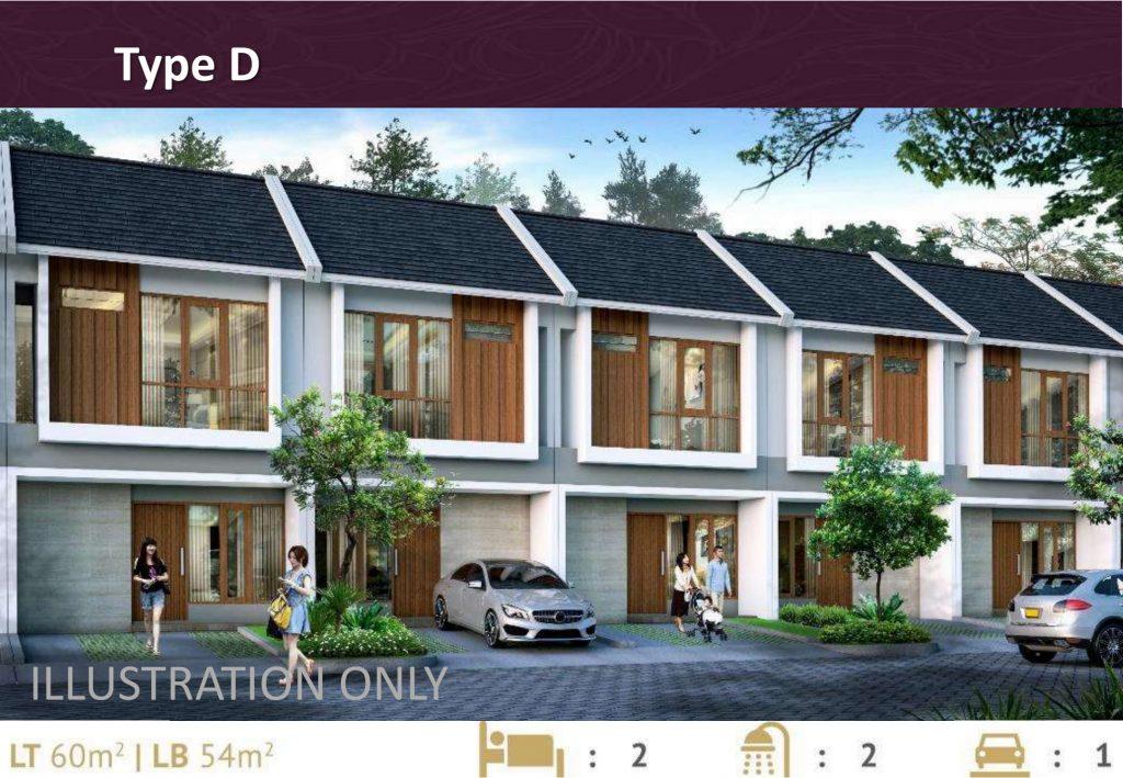 Tipe rumah Deaux di Premier Estate 3 Kranggan Cibubur
